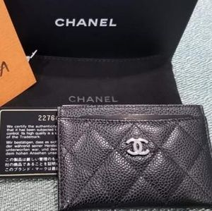 Sold in fb. Chanel flat card holder with shw